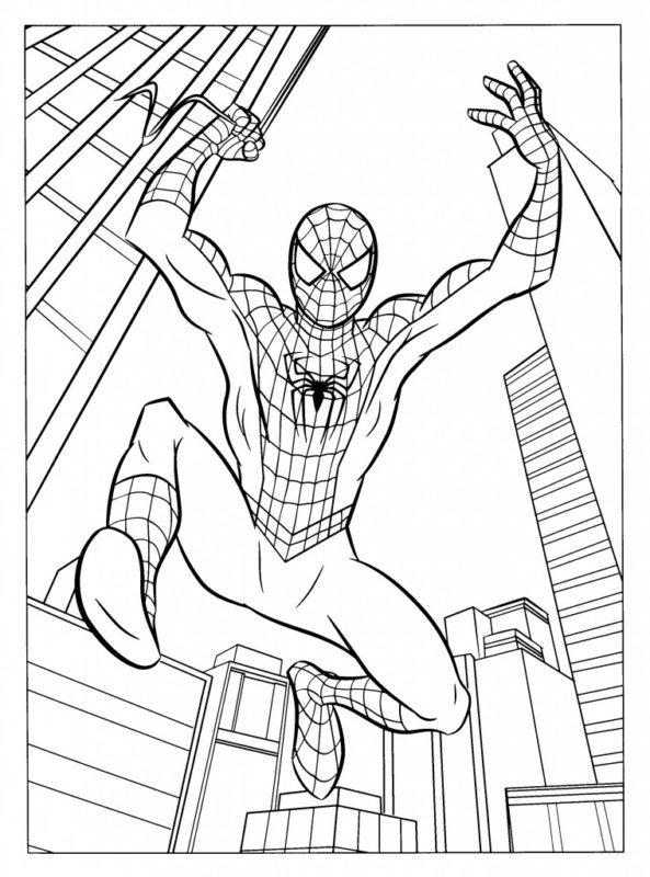 Spidermen Da Colorare.Disegni Da Colorare E Stampare Per Bambini Mammachefiglio It